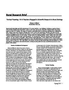 Rural Research Brief