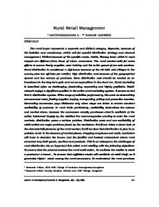 Rural Retail Management