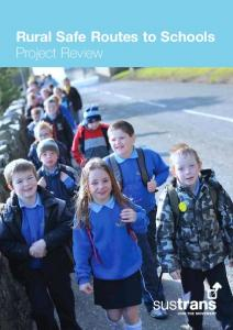 Rural Safe Routes to Schools Project Review