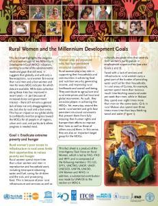 Rural Women and the Millennium Development Goals