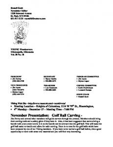 Russell Scott Newsletter Editor 1238 Edmund Avenue St. Paul, MN
