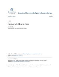 Russian Children at Risk
