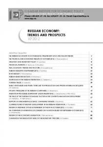 RUSSIAN ECONOMY: TRENDS AND PROSPECTS