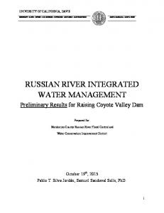 RUSSIAN RIVER INTEGRATED WATER MANAGEMENT
