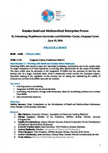 Russian Small and Medium-Sized Enterprises Forum