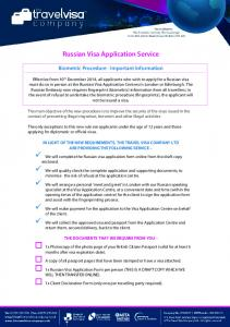 Russian Visa Application Service