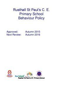 Rusthall St Paul s C. E. Primary School Behaviour Policy