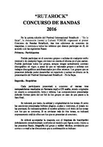 RUTAROCK CONCURSO DE BANDAS 2016
