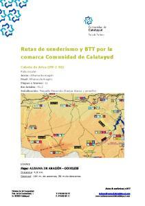Rutas de senderismo y BTT por la comarca Comunidad de Calatayud