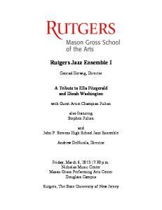 Rutgers Jazz Ensemble I