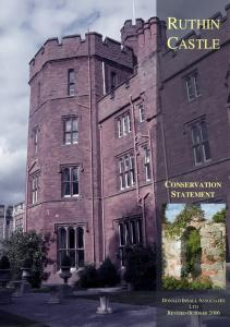 RUTHIN CASTLE CONSERVATION STATEMENT