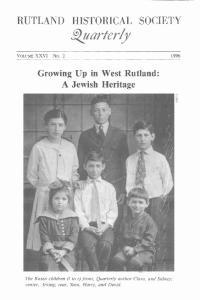 RUTLAND HISTORICAL SOCIETY