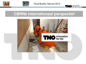 Ruud Busker, februari CBRNe internationaal perspectief