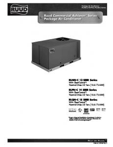 Ruud Commercial Achiever Series Package Air Conditioner