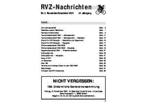 RVZ-Nachrichten Nr. 5 November-Dezember 2001
