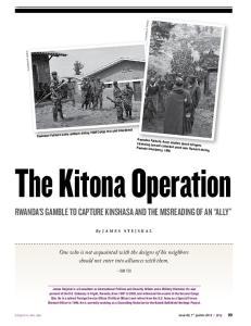 Rwanda s Gamble to Capture Kinshasa and the Misreading of an Ally. Sun Tzu