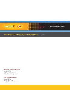 RWF WIRELESS RADIO INSTALLATION GUIDE