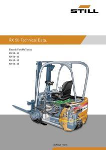 RX 50 Technical Data