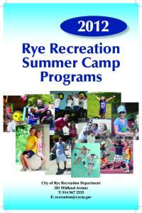 Rye Recreation Summer Camp Programs