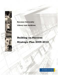Ryerson University Library and Archives. Building on Success: Strategic Plan