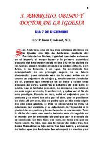 S. AMBROSIO, OBISPO Y DOCTOR DE LA IGLESIA
