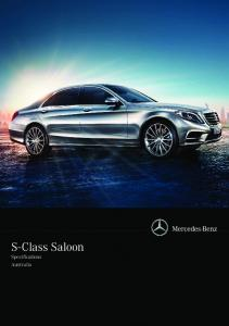 S-Class Saloon Specifications Australia