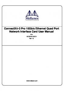 s Ethernet Quad Port Network Interface Card User Manual