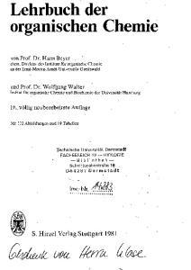 S. Hirzel Verlag Stuttgart I.nv.-Nr