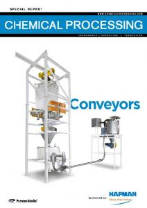 S P E C I A L R E P O R T. Conveyors. Sponsored by: