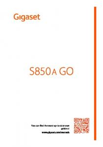 S850 A GO. You can find the most up-to-date user guide at