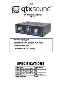 SA-2 Studio Amplifier