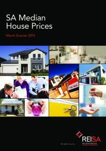 SA Median House Prices