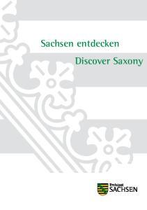 Sachsen entdecken Discover Saxony