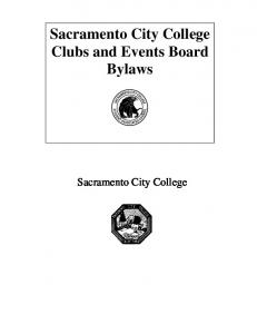 Sacramento City College Clubs and Events Board Bylaws