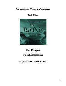 Sacramento Theatre Company. The Tempest