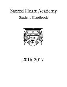 Sacred Heart Academy. Student Handbook