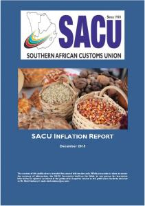 SACU INFLATION REPORT. December 2015