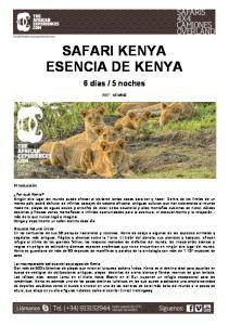SAFARI KENYA ESENCIA DE KENYA