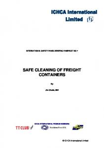 SAFE CLEANING OF FREIGHT CONTAINERS
