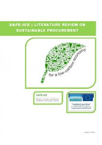 SAFE-ICE LITERATURE REVIEW ON SUSTAINABLE PROCUREMENT