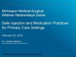Safe Injection and Medication Practices for Primary Care Settings