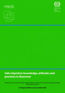 Safe migration knowledge, attitudes and practices in Myanmar