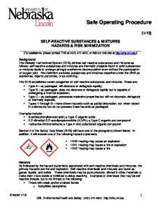 Safe Operating Procedure