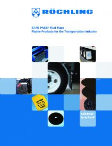 SAFE PASS Mud Flaps Plastic Products for the Transportation Industry