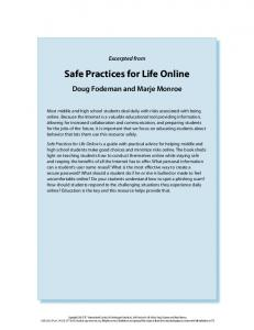 Safe Practices for Life Online
