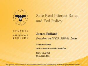 Safe Real Interest Rates and Fed Policy