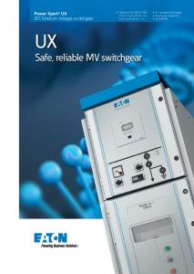 Safe, reliable MV switchgear