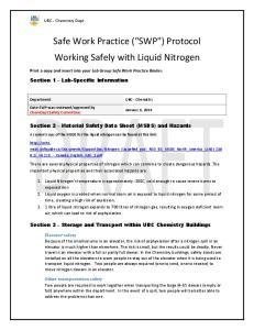 Safe Work Practice (