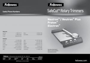 SafeCut Rotary Trimmers