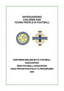 SAFEGUARDING CHILDREN AND YOUNG PEOPLE IN FOOTBALL